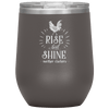 Rise and Shine Mother Cluckers Stemless Wine Tumbler Pewter - Tierra Bella