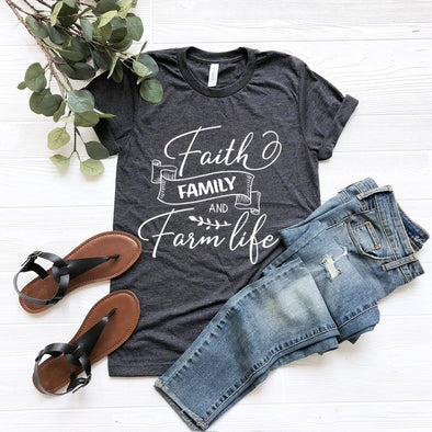 Faith Family And Farm Life Unisex Jersey Tee - Tierra Bella