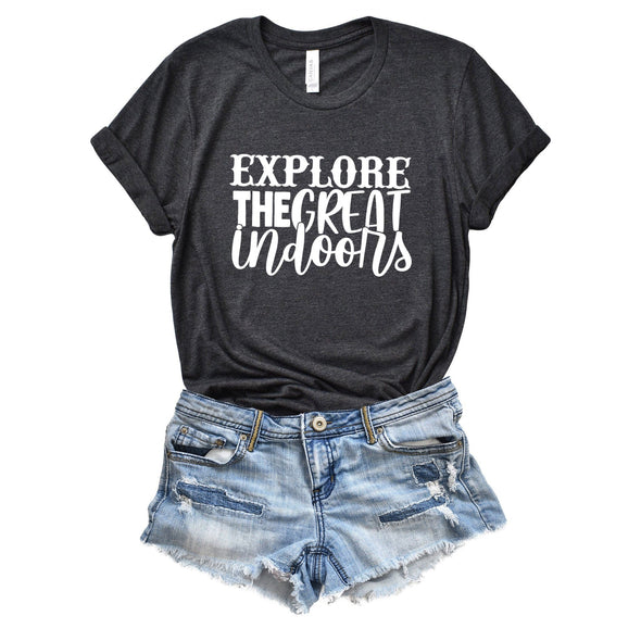 Explore the Great Indoors Unisex Jersey Tee - Tierra Bella