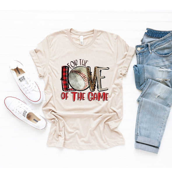 For The Love Of The Game Baseball Unisex Jersey Tee XS Tan Heather - Tierra Bella