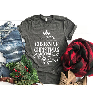I Have OCD Obsessive Christmas Disorder Unisex Jersey Tee - Tierra Bella