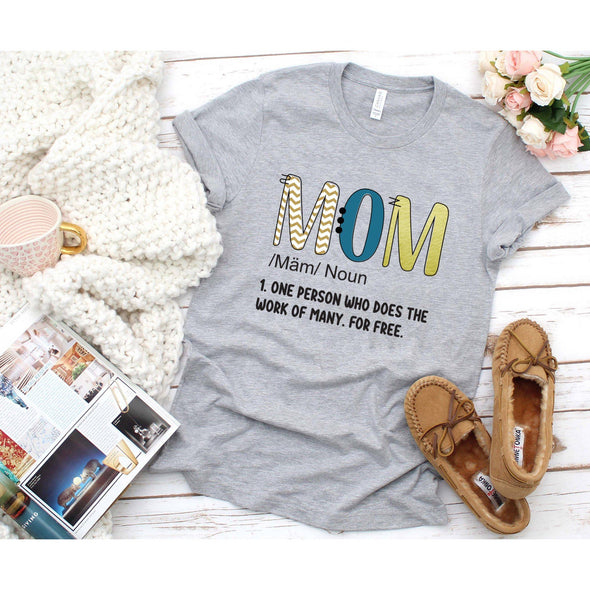 Mom Definition Unisex Jersey Tee XS Athletic Heather - Tierra Bella