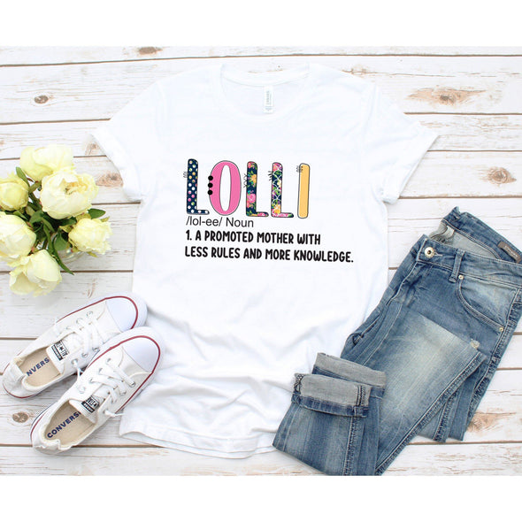 Lolli Definition Unisex Jersey Tee XS White - Tierra Bella