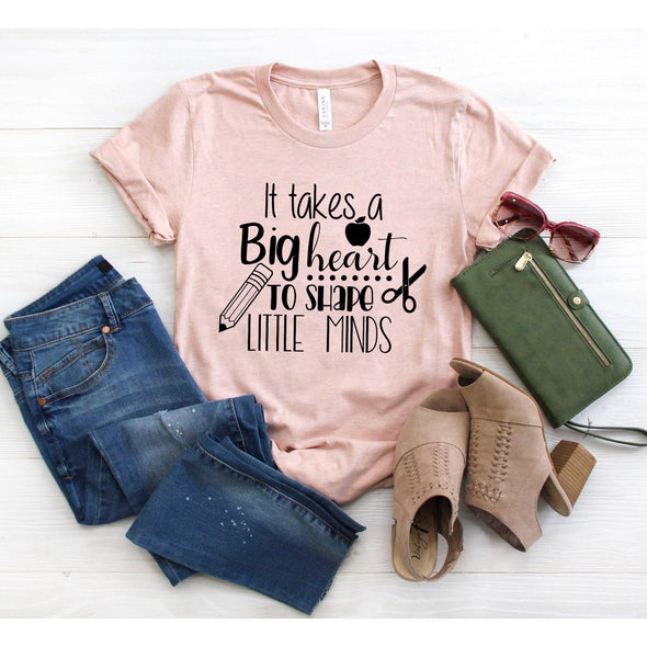 It Takes a Big Heart To Shape Little Minds Unisex Jersey Tee - Tierra Bella