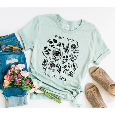 Plant These Save The Bees Unisex Jersey Tee - Tierra Bella
