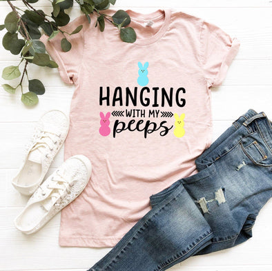 Hanging With My Peeps Easter Unisex Jersey Tee - Tierra Bella