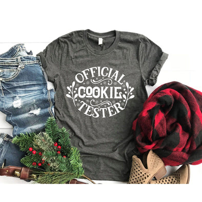 Official Cookie Tester Christmas Unisex Jersey Tee - Tierra Bella