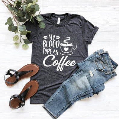 My Blood Type Is Coffee Unisex Jersey Tee - Tierra Bella