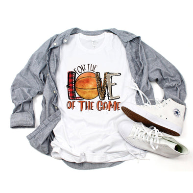 For The Love Of The Game Basketball Unisex Jersey Tee XS White - Tierra Bella
