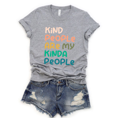 Kind People Are My Kinda People Unisex Jersey Tee XS Athletic Heather - Tierra Bella