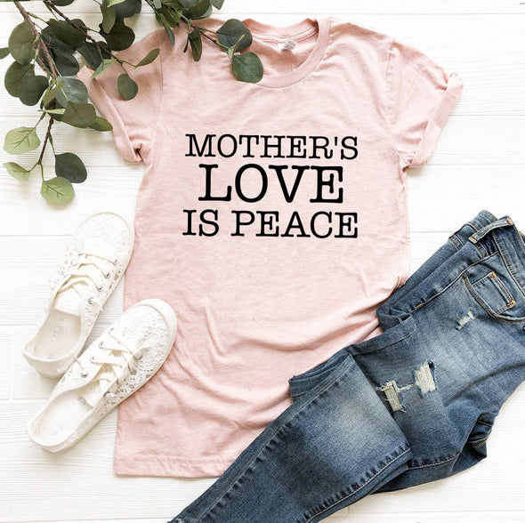 Mother's Love Is Peace Unisex Jersey Tee - Tierra Bella