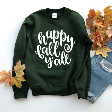 Happy Fall Y'all Sweatshirt - Tierra Bella