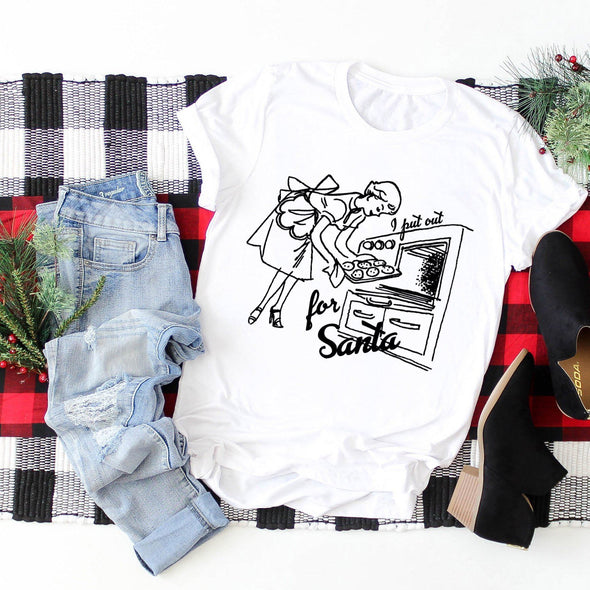 I Put Out For Santa Unisex Jersey Tee S White - Tierra Bella