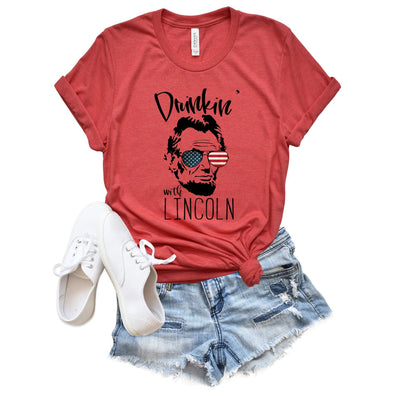 Drinkin' With Lincoln Unisex Jersey Tee - Tierra Bella