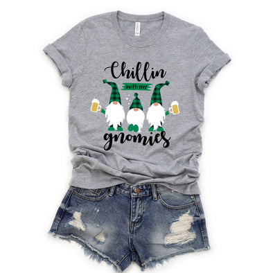 Chillin With My Gnomies St. Patrick's Day Unisex Jersey Tee - Tierra Bella