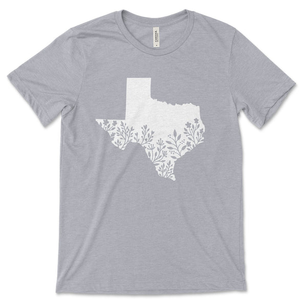 Texas Unisex Jersey Tee XS Athletic Heather - Tierra Bella