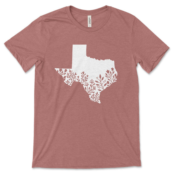 Texas Unisex Jersey Tee XS Heather Mauve - Tierra Bella