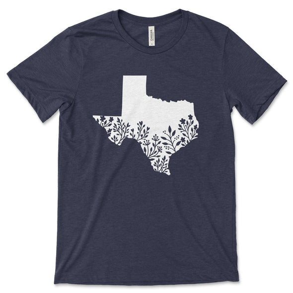 Texas Unisex Jersey Tee XS Heather Midnight Navy - Tierra Bella