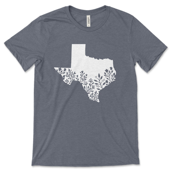 Texas Unisex Jersey Tee XS Heather Slate - Tierra Bella