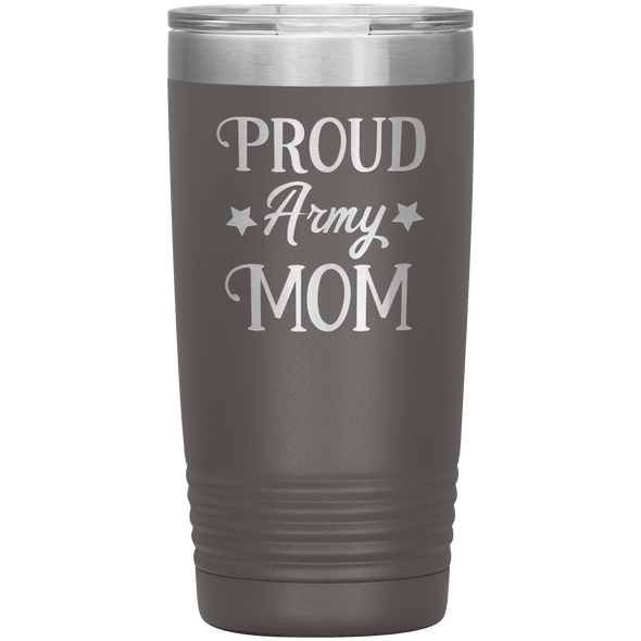 Proud Army Mom 20oz Tumbler Pewter - Tierra Bella