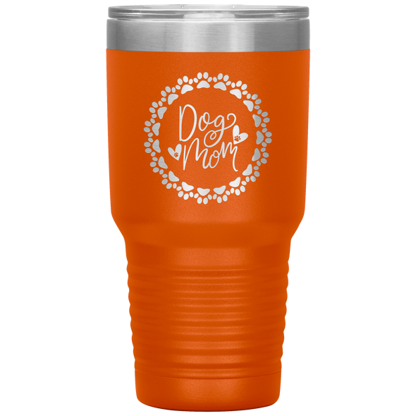 Dog Mom Wreath 30oz Tumbler Orange - Tierra Bella