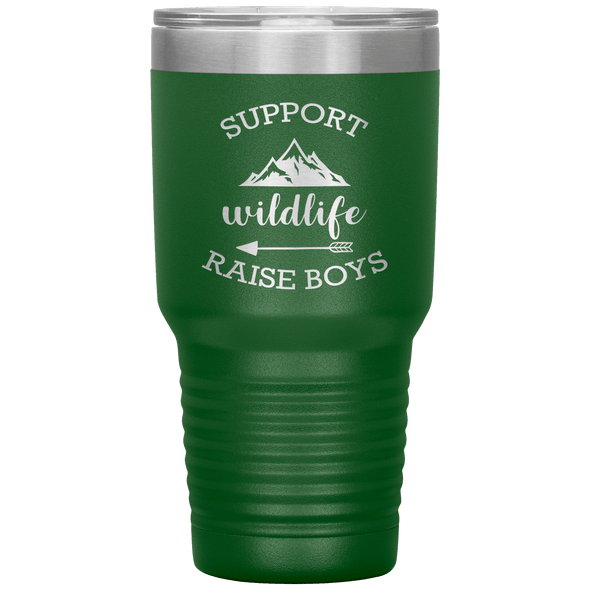 Support Wildlife Raise Boys 30oz Tumbler Green - Tierra Bella