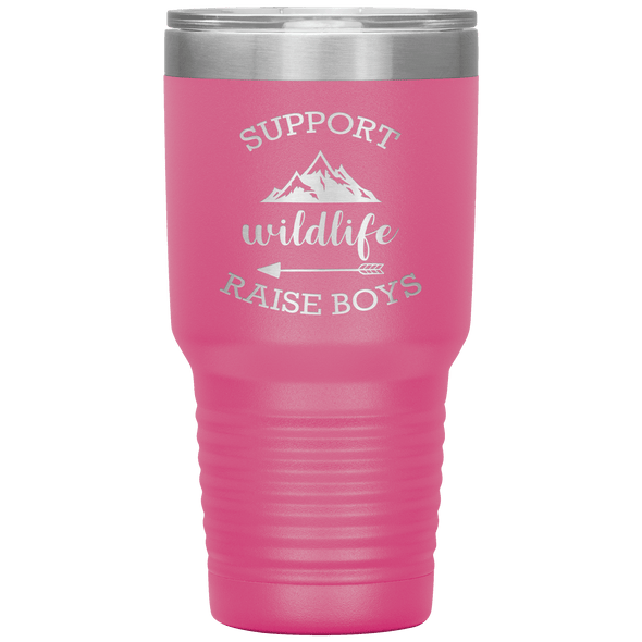 Support Wildlife Raise Boys 30oz Tumbler Pink - Tierra Bella