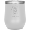 Just a Small Town Girl Stemless Wine Tumbler White - Tierra Bella