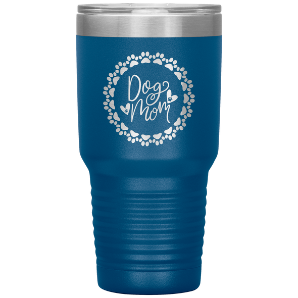 Dog Mom Wreath 30oz Tumbler Blue - Tierra Bella