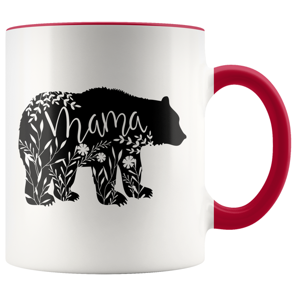 Floral Mama Bear Accent Mug Red - Tierra Bella