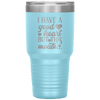 I Have a Good Heart but This Mouth 30oz Tumbler Light Blue - Tierra Bella