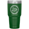 Dog Mom Wreath 30oz Tumbler Green - Tierra Bella