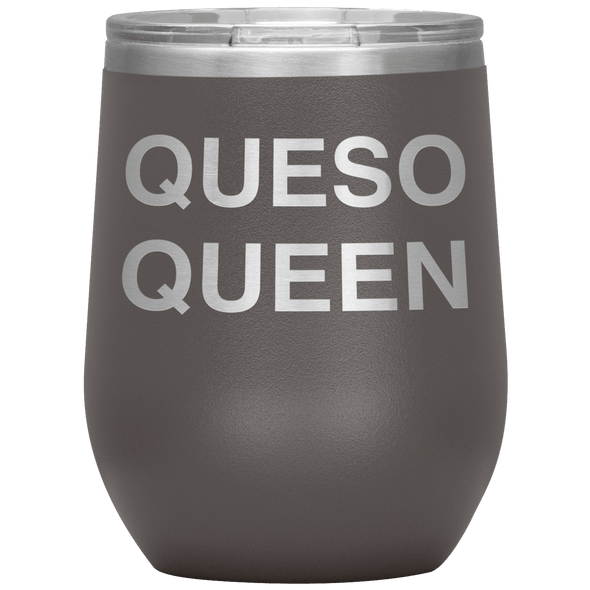 Queso Queen Stemless Wine Tumbler Pewter - Tierra Bella