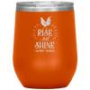Rise and Shine Mother Cluckers Stemless Wine Tumbler Orange - Tierra Bella