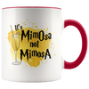 It's MimOsa Not MimosA Accent Mug Red - Tierra Bella