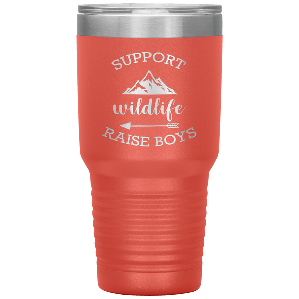 Support Wildlife Raise Boys 30oz Tumbler Coral - Tierra Bella
