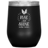 Rise and Shine Mother Cluckers Stemless Wine Tumbler Black - Tierra Bella