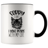 Sorry I Can't I Have Plans With My Cat Accent Mug Black - Tierra Bella