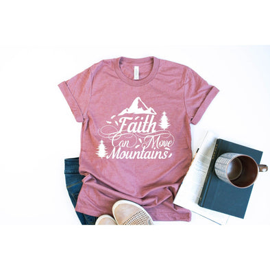 Faith Can Move Mountains Unisex Jersey Tee - Tierra Bella