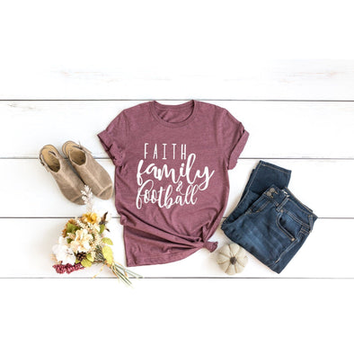 Faith Family Football Unisex Jersey Tee - Tierra Bella