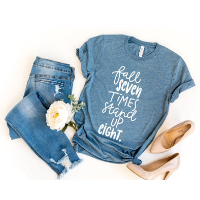Fall Seven Times Stand Up Eight Unisex Jersey Tee - Tierra Bella