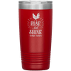 Rise and Shine Mother Cluckers 20oz Tumbler Red - Tierra Bella