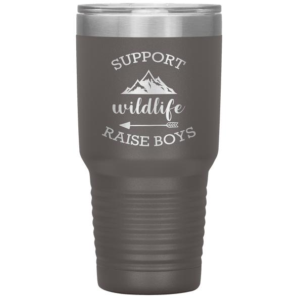 Support Wildlife Raise Boys 30oz Tumbler Pewter - Tierra Bella