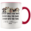 I'll Be Watching You Dog Mom Accent Mug Red - Tierra Bella