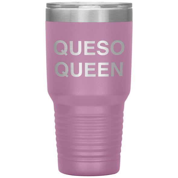 Queso Queen 30oz Tumbler Light Purple - Tierra Bella