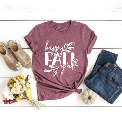 Happy Fall Y'all Unisex Jersey Tee - Tierra Bella