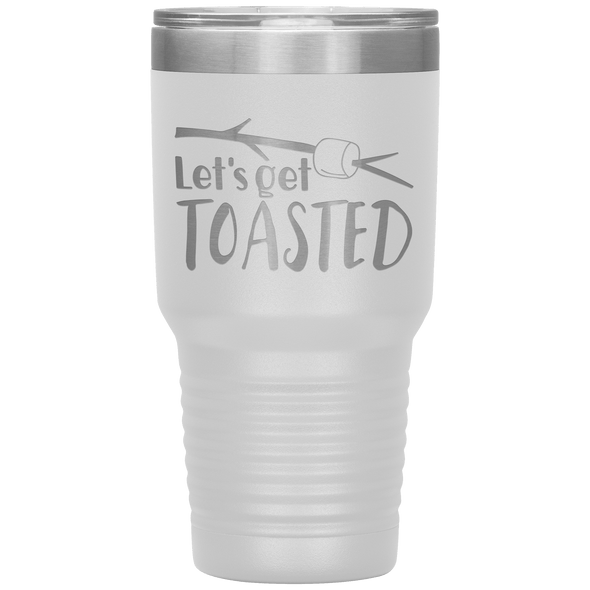 Let's Get Toasted 30oz Tumbler White - Tierra Bella
