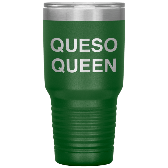 Queso Queen 30oz Tumbler Green - Tierra Bella