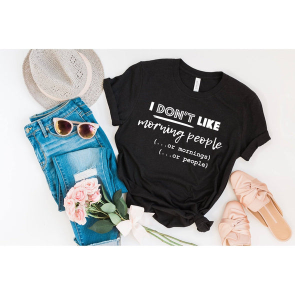 I Don't Like Morning People Unisex Jersey Tee - Tierra Bella