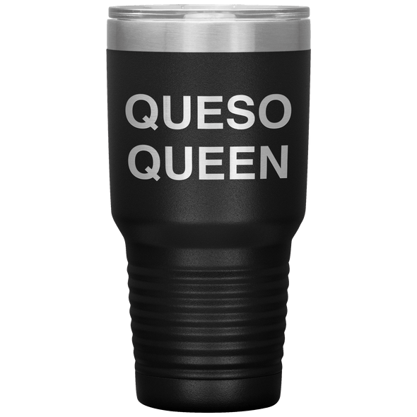 Queso Queen 30oz Tumbler Black - Tierra Bella